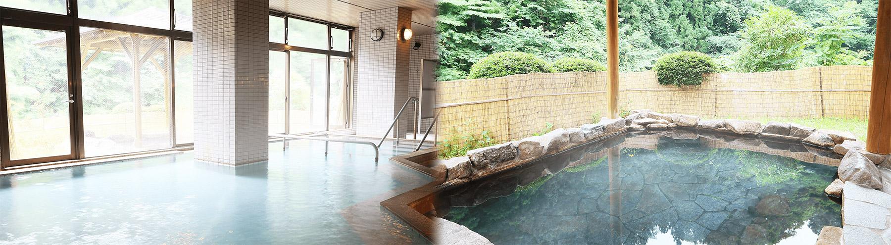 天然温泉×指圧マッサージ。癒しと健康力をアップする4種類のお風呂でリラックス。